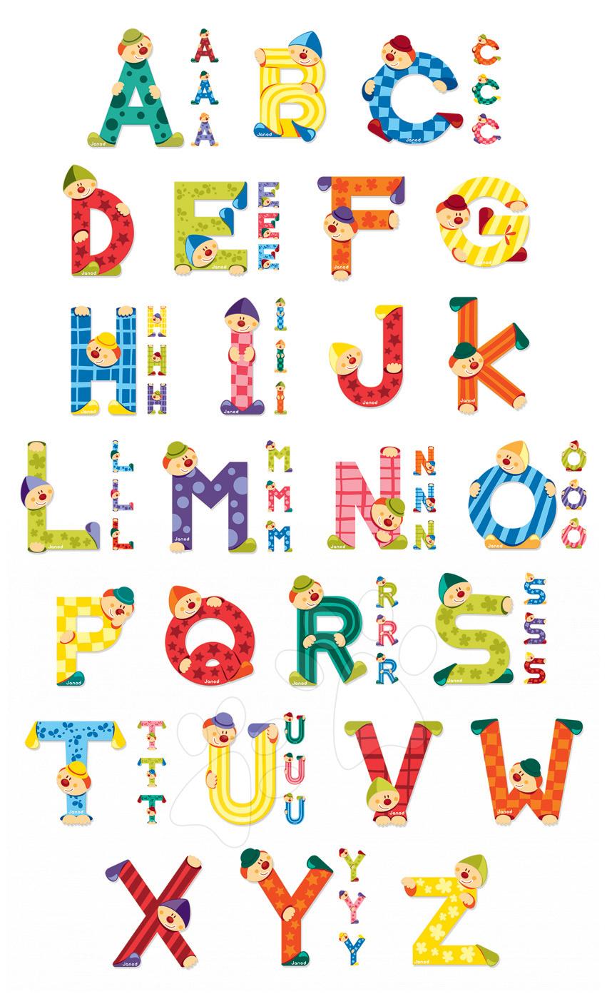 Dekorácie do detských izieb - Drevené lepiace písmená Clown Letter Janod