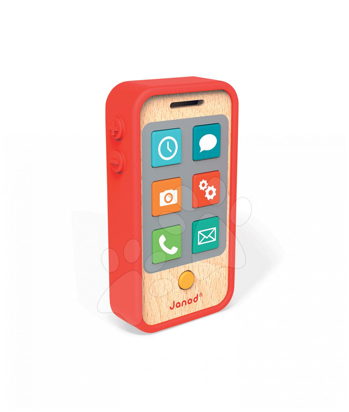 Dřevěný mobilní telefon se zvuky Janod #VALUE! od 18 měsíců