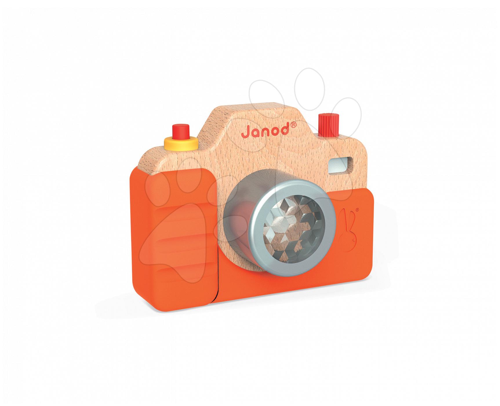 Dřevěný fotoaparát se zvuky a světlem Janod #VALUE! od 18 měsíců