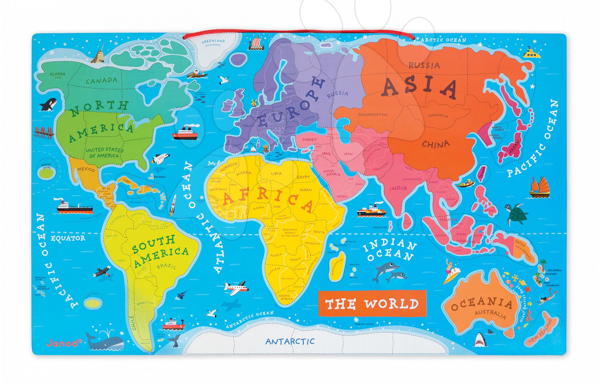 mapa sveta Mapa sveta s magnetmi Janod v angličtine mapa sveta