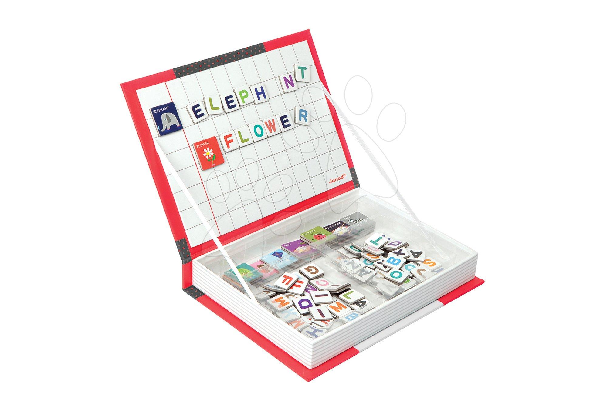 Magnetická kniha English Alphabet Magneti'Book Janod 104 + 26 magnetů