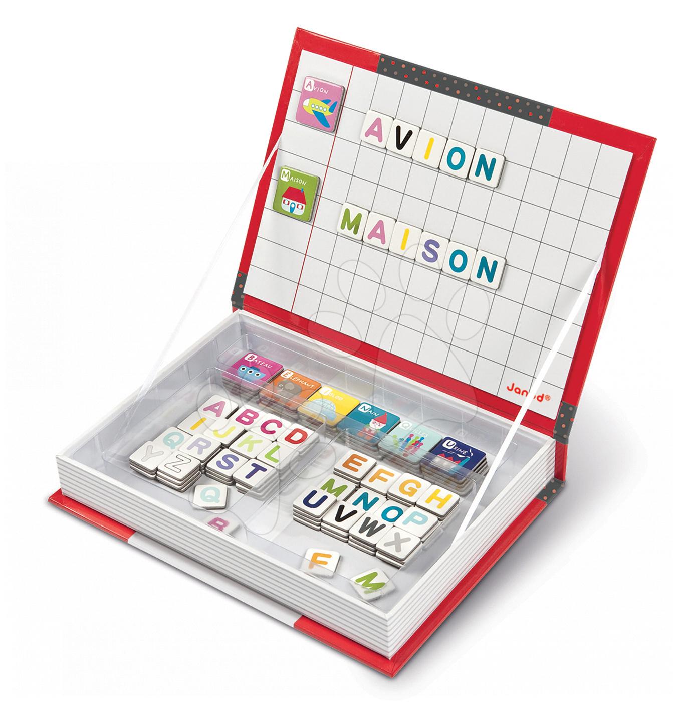 Magnetická kniha Alphabet French Magneti'Book Janod 104 + 26 magnetů