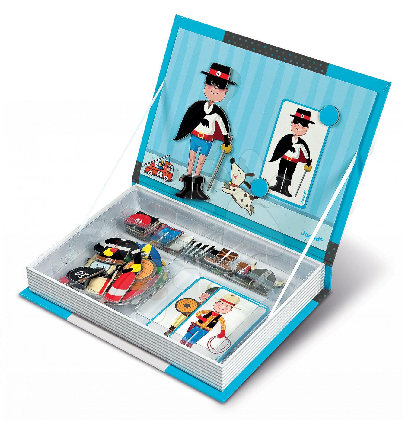 Magnetky pre deti - Magnetická kniha Boy's Outfits Magneti'Book Janod 8 kariet