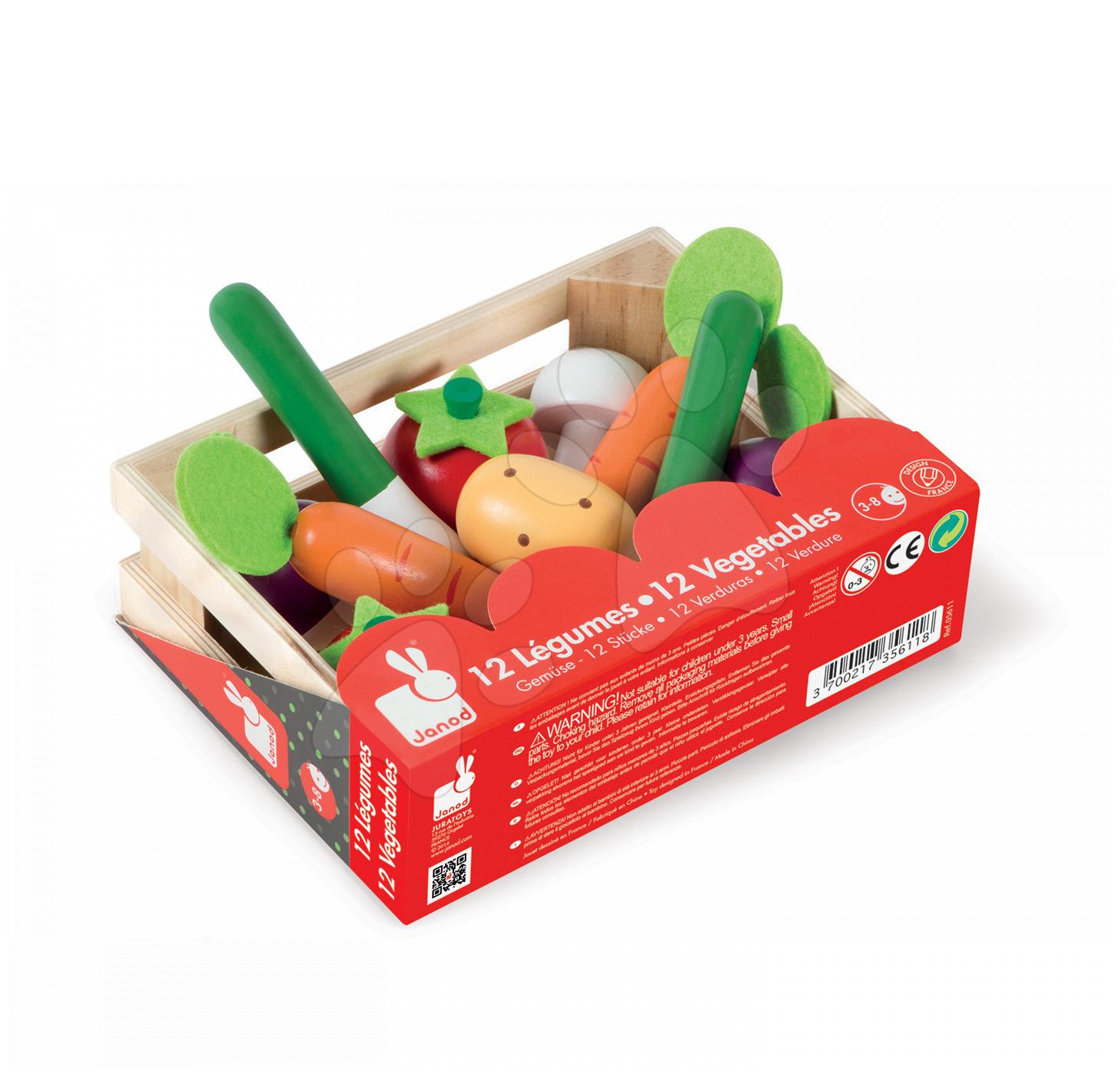 8b9a60f2a Janod drevená zelenina v boxe 05611 – Janod hračky