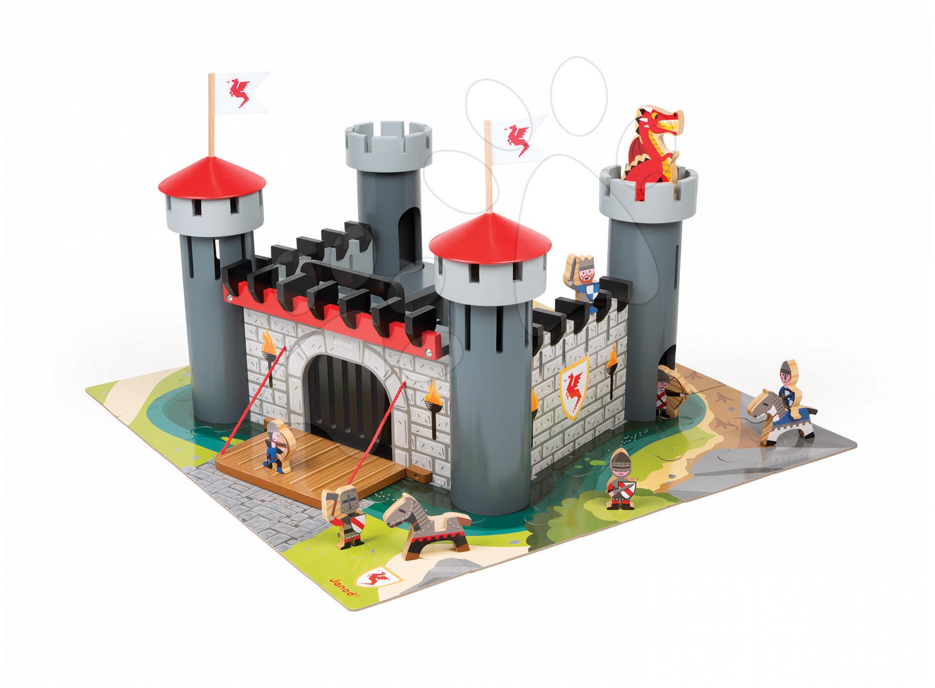 Stavebnice Rytířský hrad Cardboard Worlds Janod s 18 doplňky od 4 let