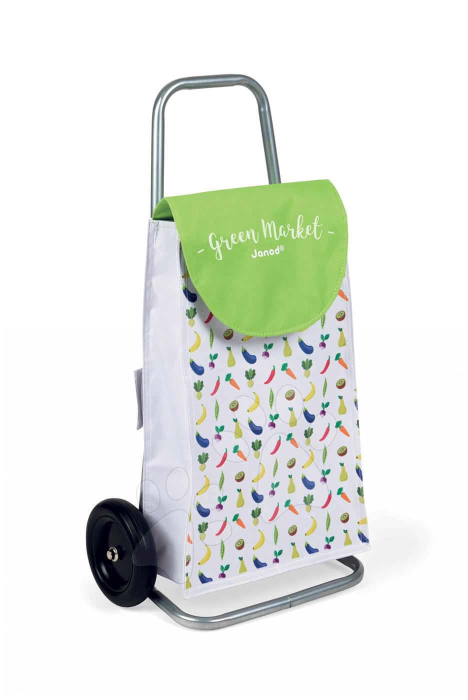Janod detský nákupný vozík Green Market 06575