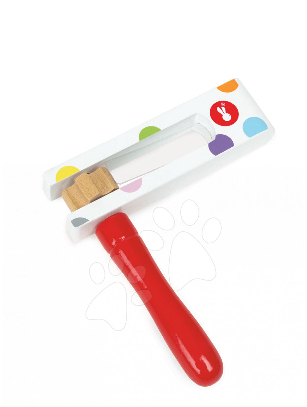 Detské hudobné nástroje - Drevený rapkáč Confetti Bullroarer Janod od 24 mes