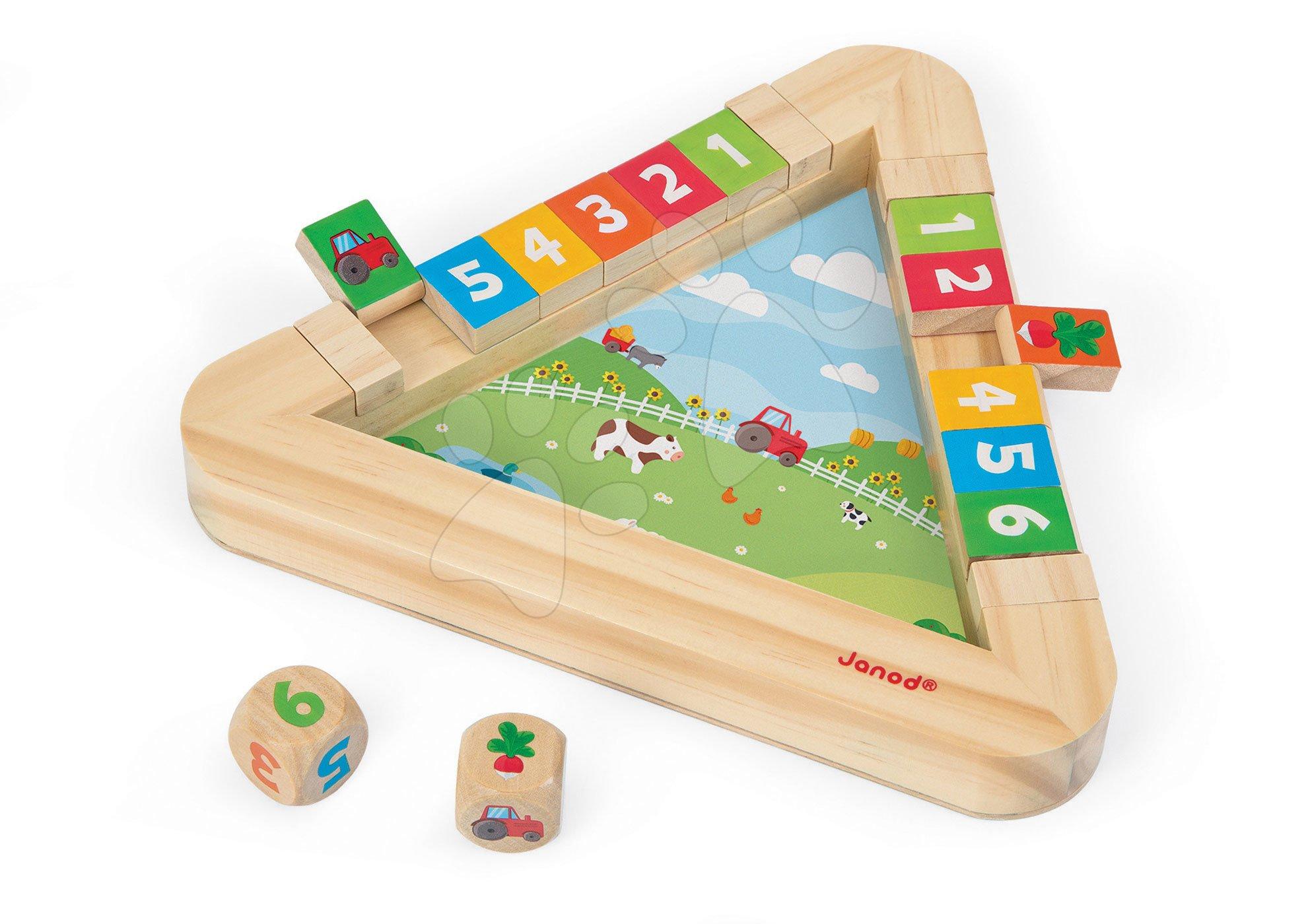 Cudzojazyčné spoločenské hry - Spoločenská hra Garden Clip Clap Janod