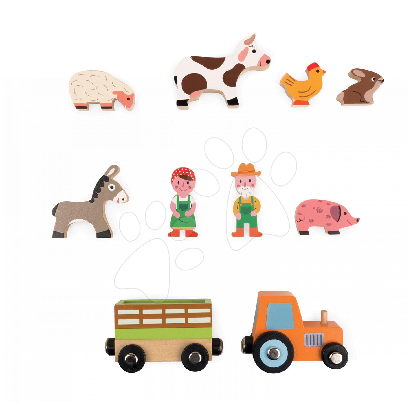Dřevěná pohádka Život na farmě Mini Story Janod