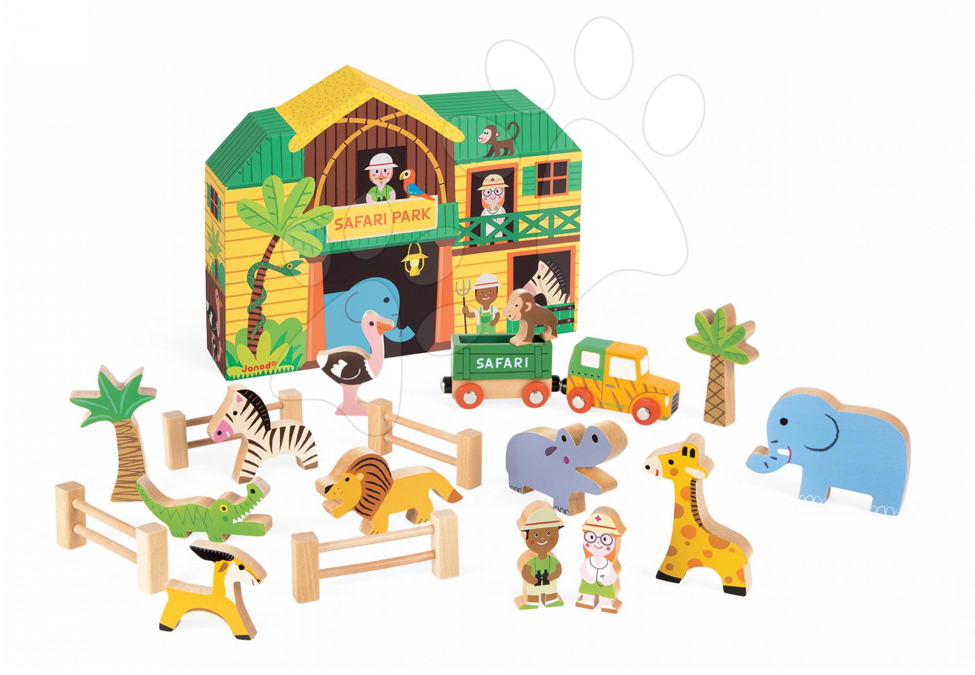 Janod drevené safari so zvieratkami 08542