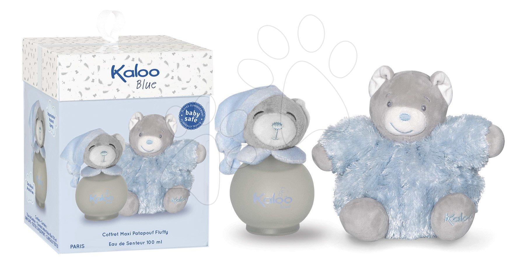 Toaletná voda pre najmenších Blue Maxi Fluffy Set Kaloo Scented Water 100 ml modrý medveď v darčekovej krabičke od 3 mes