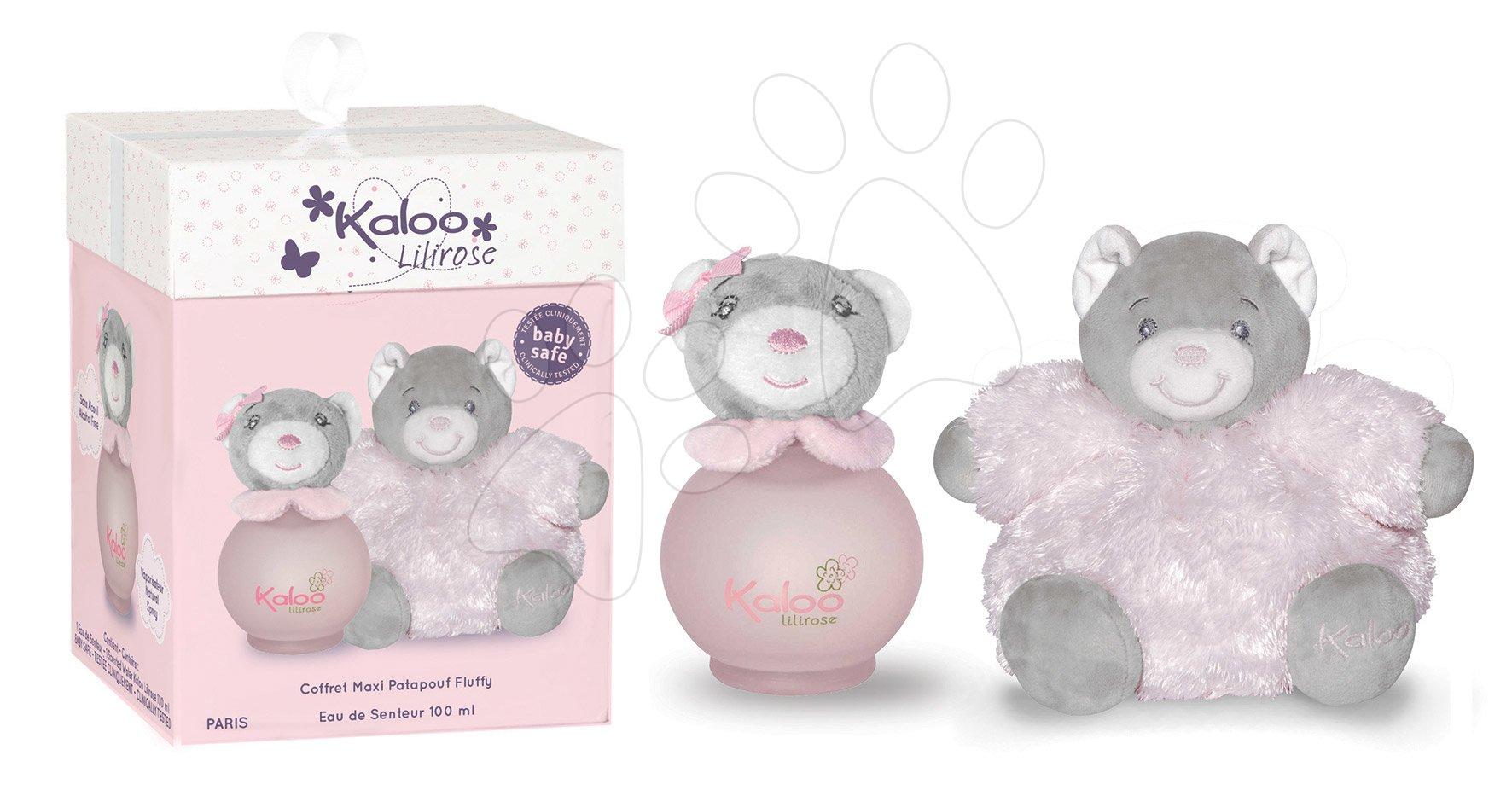 Toaletná voda pre najmenších Lilirose Maxi Fluffy Set Kaloo Scented Water 100 ml ružový medveď od 3 mes