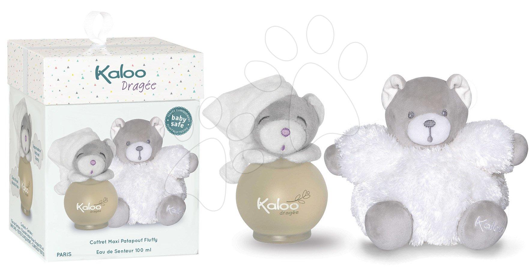 Toaletná voda pre najmenších Dragée Maxi Fluffy Set Kaloo Scented Water 100 ml biely medveď od 3 mes