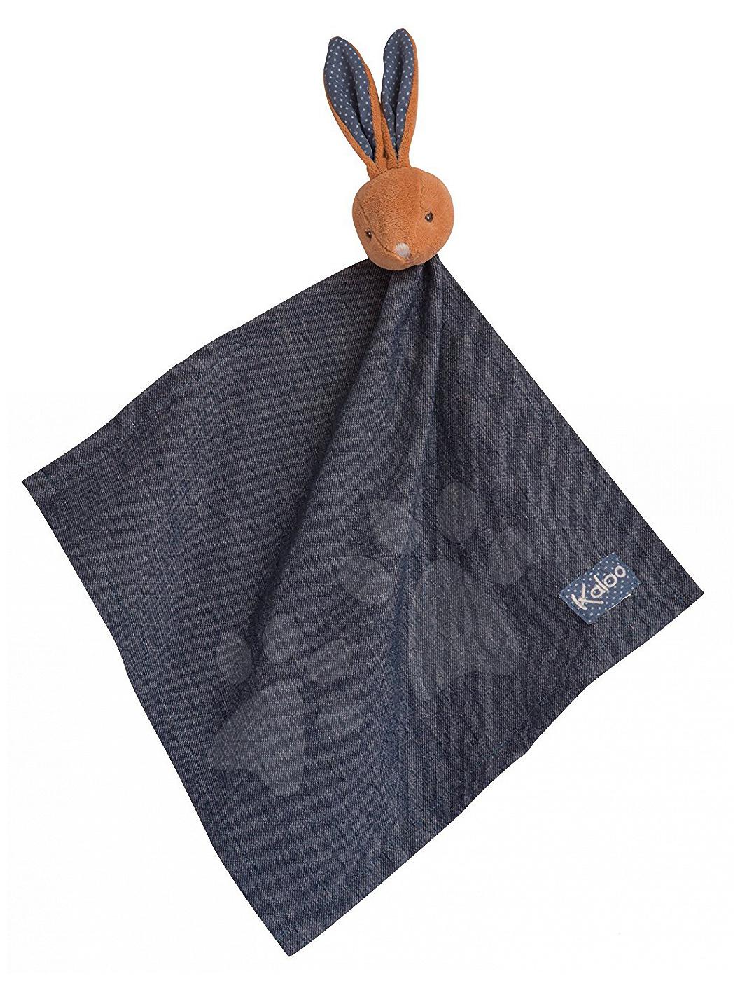 Plyšový králíček na mazlení Blue Denim Doudou 18 cm v dárkové krabičce