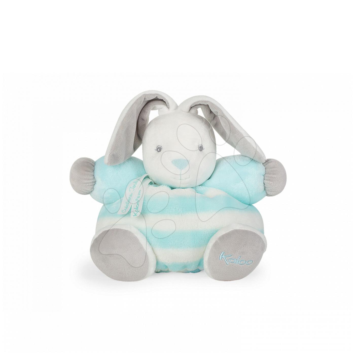 Kaloo plyšový zajačik bebe Pastel Chubby 25 cm 960082 tyrkysovo-krémový