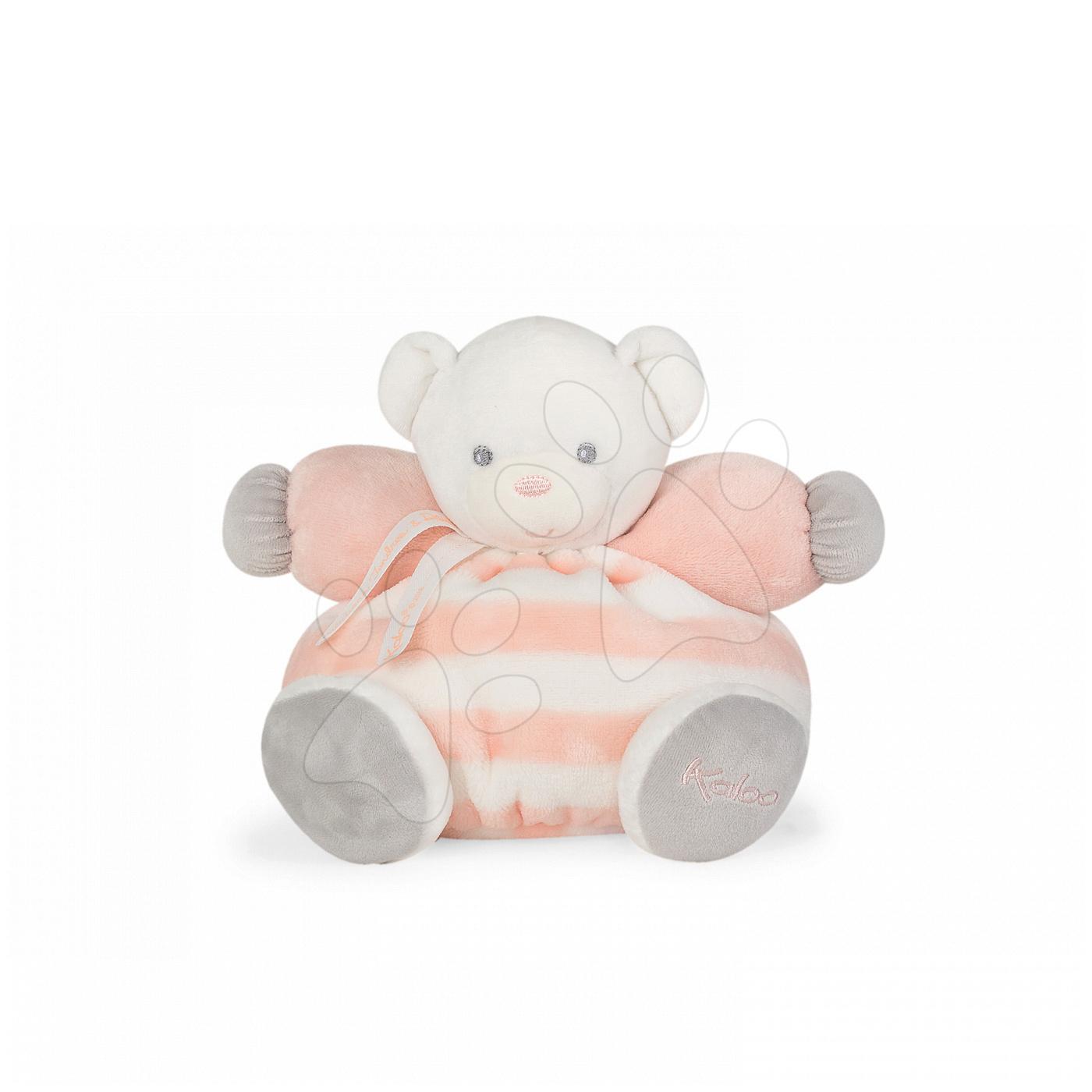 Kaloo plyšový medvedík Bebe Pastel Chubby 25 cm 960083 broskyňovo-krémový