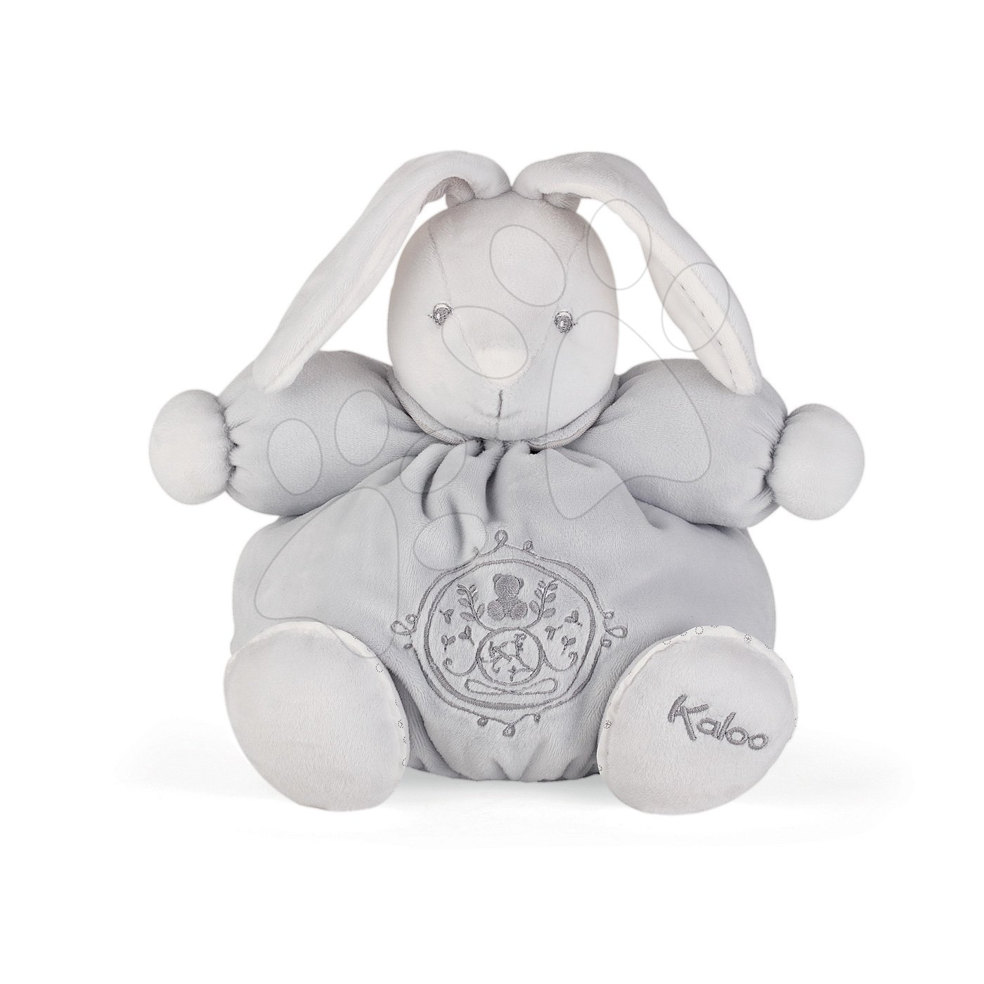 Plyšový zajačik Perle Chubby Kaloo 25 cm v darčekovej krabičke šedý