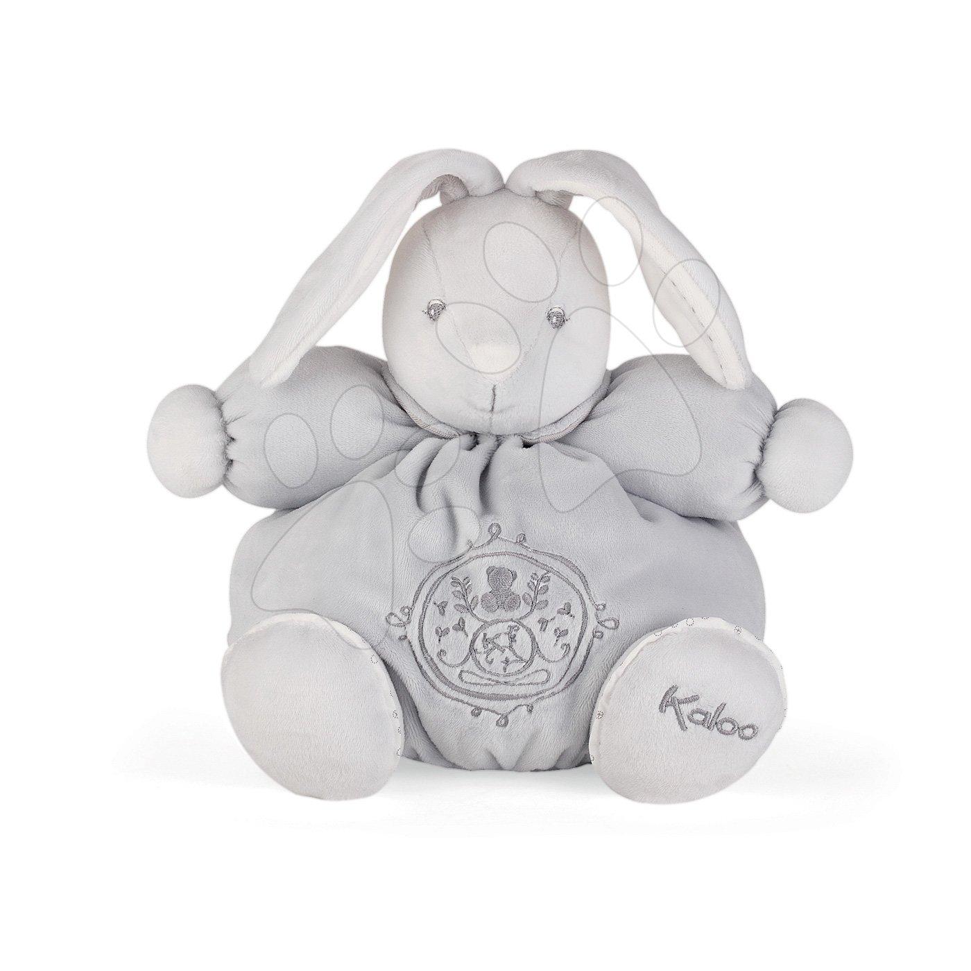 Kaloo plyšový zajačik Perle Chubby 25 cm 960220 šedý