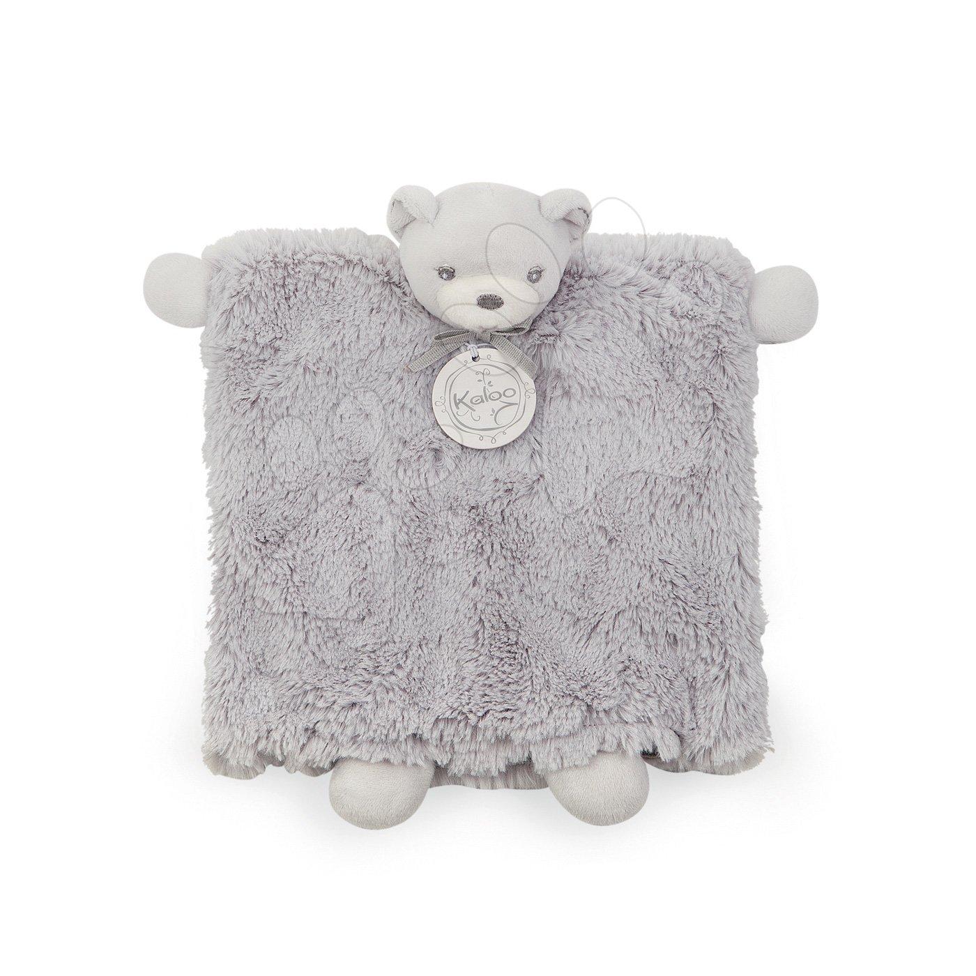 Plyšová bábka - medvedík Perle Doudou Kaloo 20 cm v darčekovej krabičke šedá od 0 mesiacov