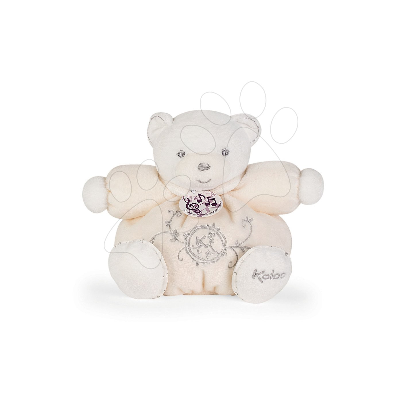 Plyšový medvedík spievajúci Perle Chubby Kaloo 18 cm v darčekovej krabičke krémový od 0 mesiacov