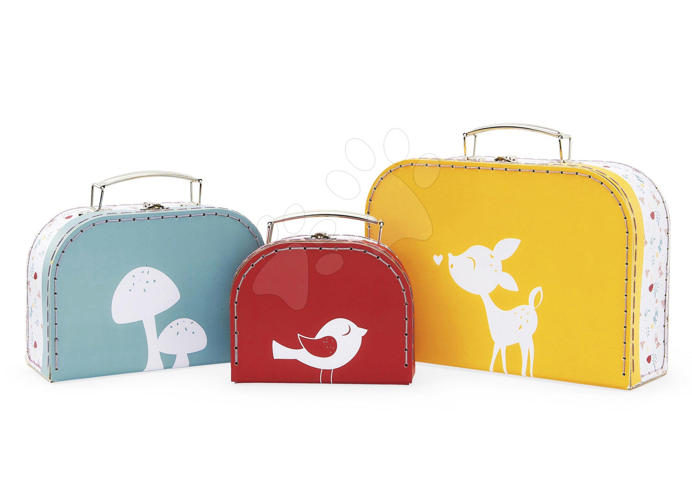 Sada troch kufríkov My 3 suitcases Classique Home Kaloo žltý, červený a zelený od 0 mesiacov