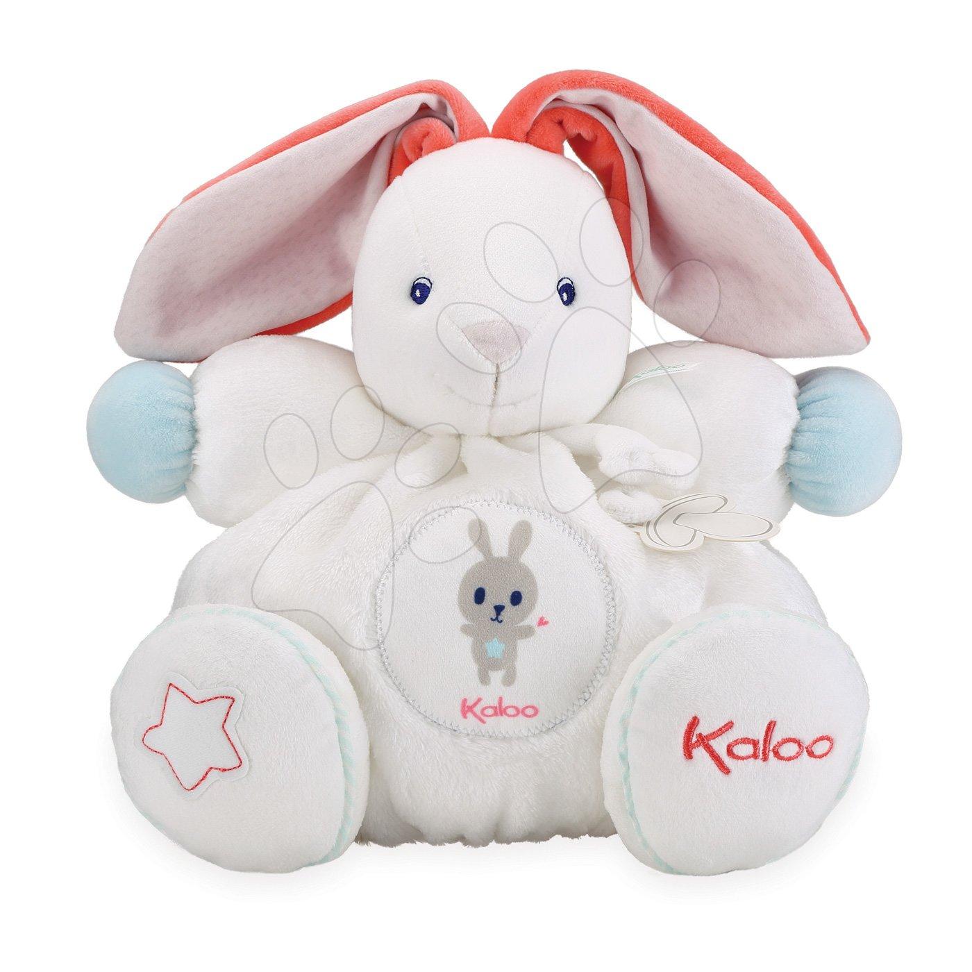 Plyšový zajac Imagine Chubby Kaloo svetielkujúci s hrkálkou v darčekovom balení 30 cm biely