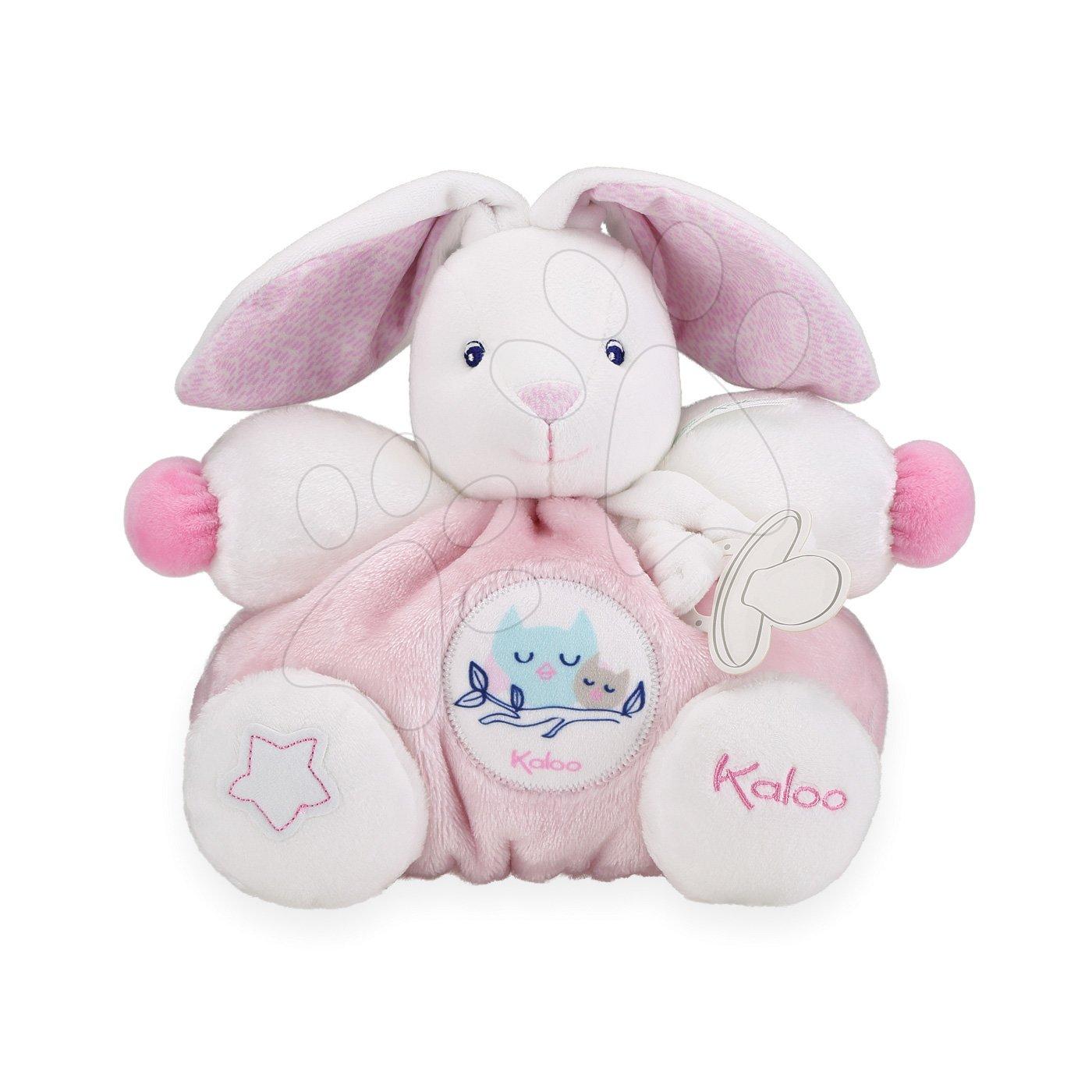 Plyšový zajac Imagine Chubby Kaloo svetielkujúci v darčekovom balení 25 cm ružový od 0 mesiacov