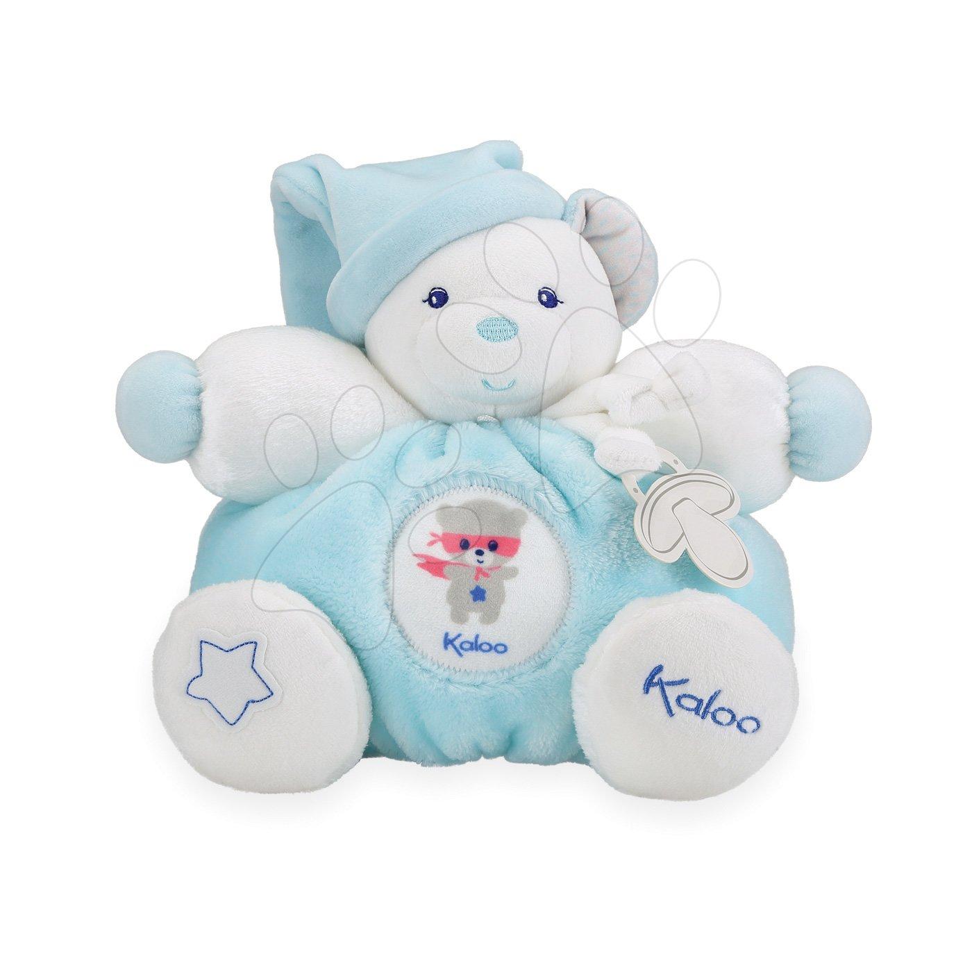Kaloo plyšový medveď Imagine Chubby svetielkujúci 960279 tyrkysový