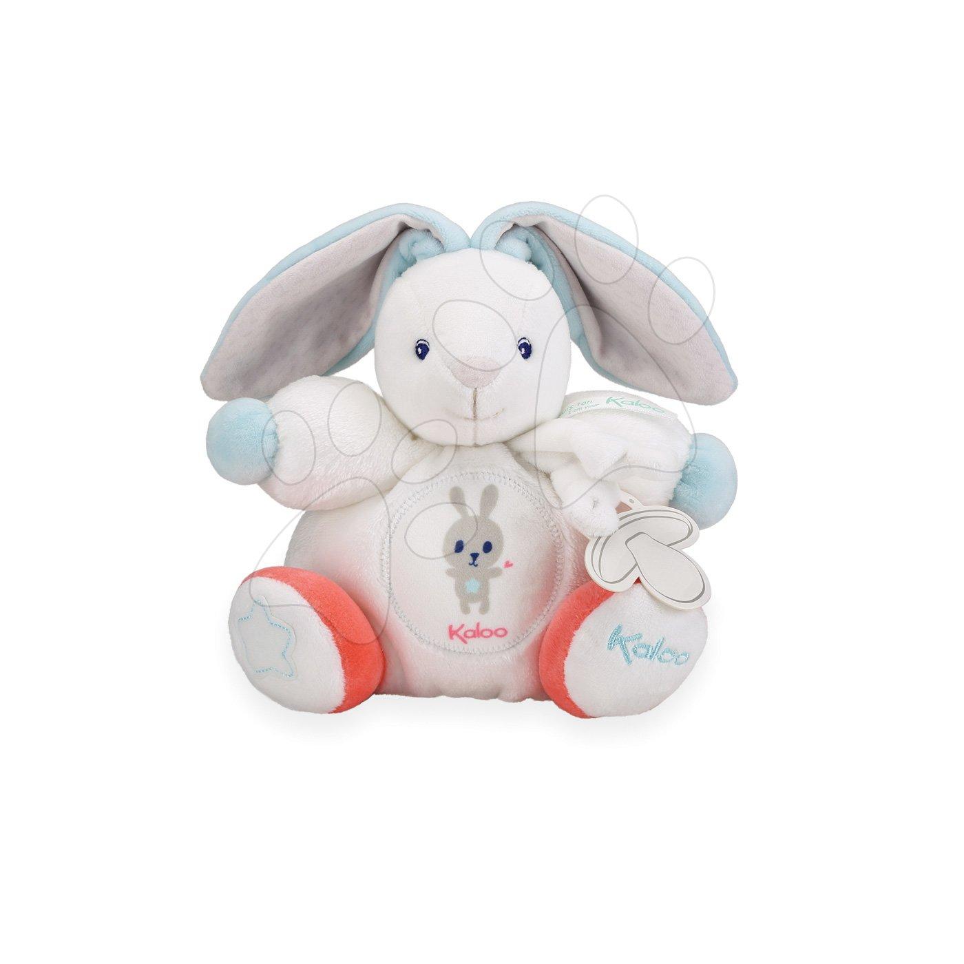 Plyšový zajac Imagine Chubby Kaloo svetielkujúci v darčekovom balení 18 cm biely