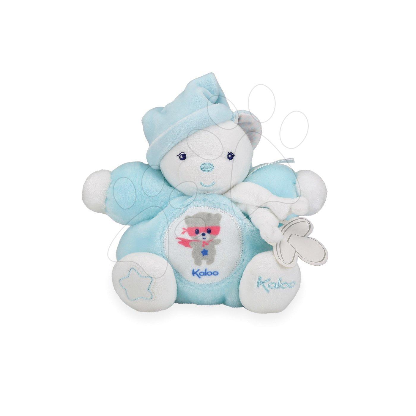 Plyšový medveď Imagine Chubby Kaloo svetielkujúci v darčekovom balení 18 cm tyrkysový