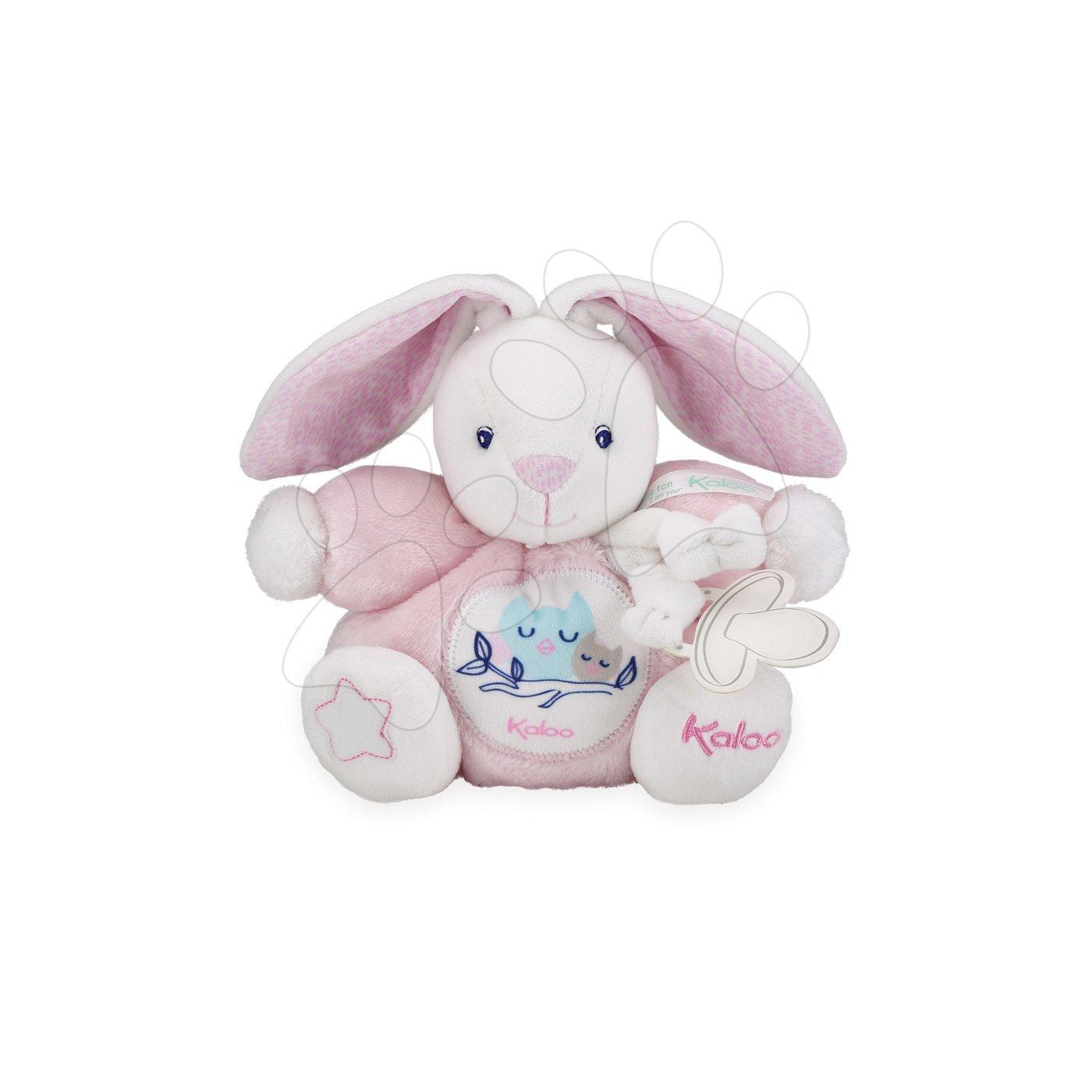 Plyšový zajac Imagine Chubby Kaloo svetielkujúci v darčekovom balení 18 cm ružový