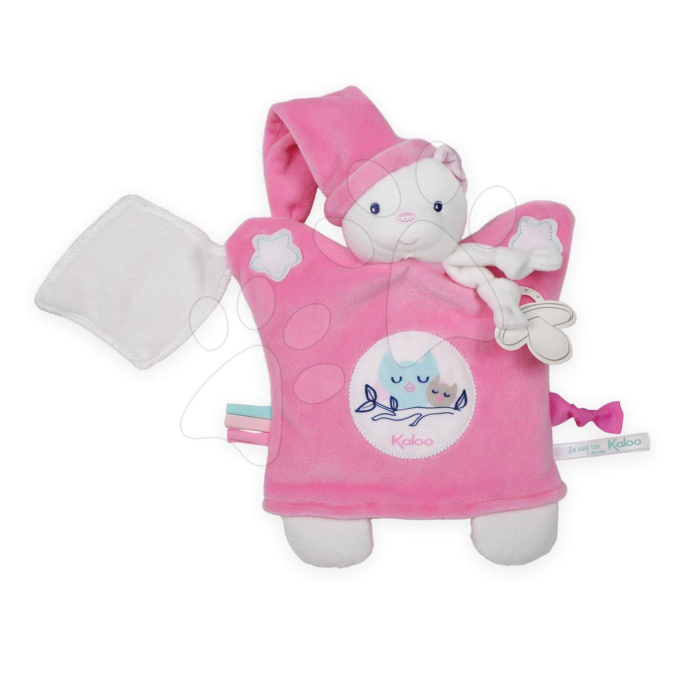 Plyšová loutka-medvěd na mazlení Imagine Doudou Kaloo světélkující 20 cm růžový