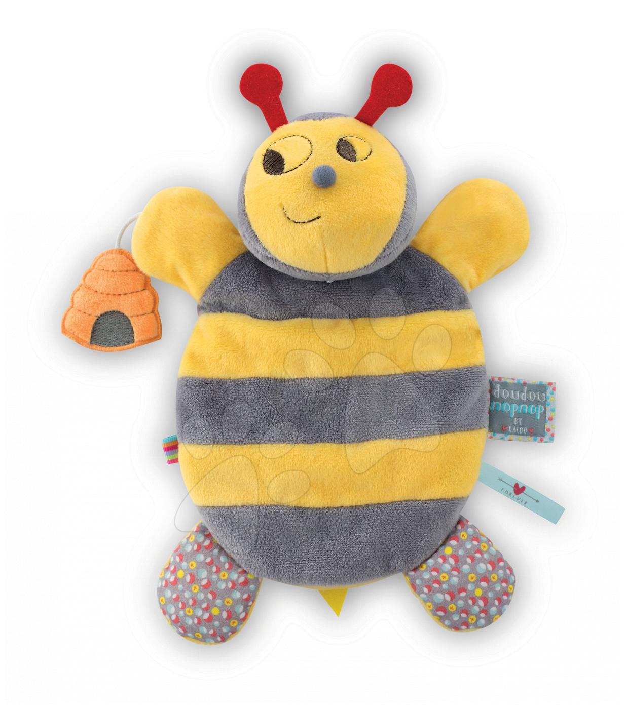 Bábky pre najmenších - Plyšová včielka bábkové divadlo Nopnop-Honey Bee Doudou Kaloo 25 cm pre najmenších