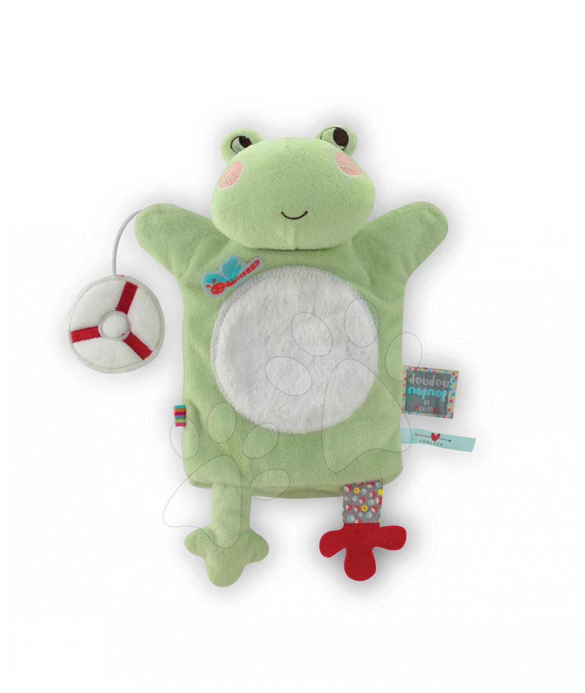 Plyšová žabka loutkové divadlo Nopnop-Bloom Frog Doudou Kaloo 25 cm pro nejmenší