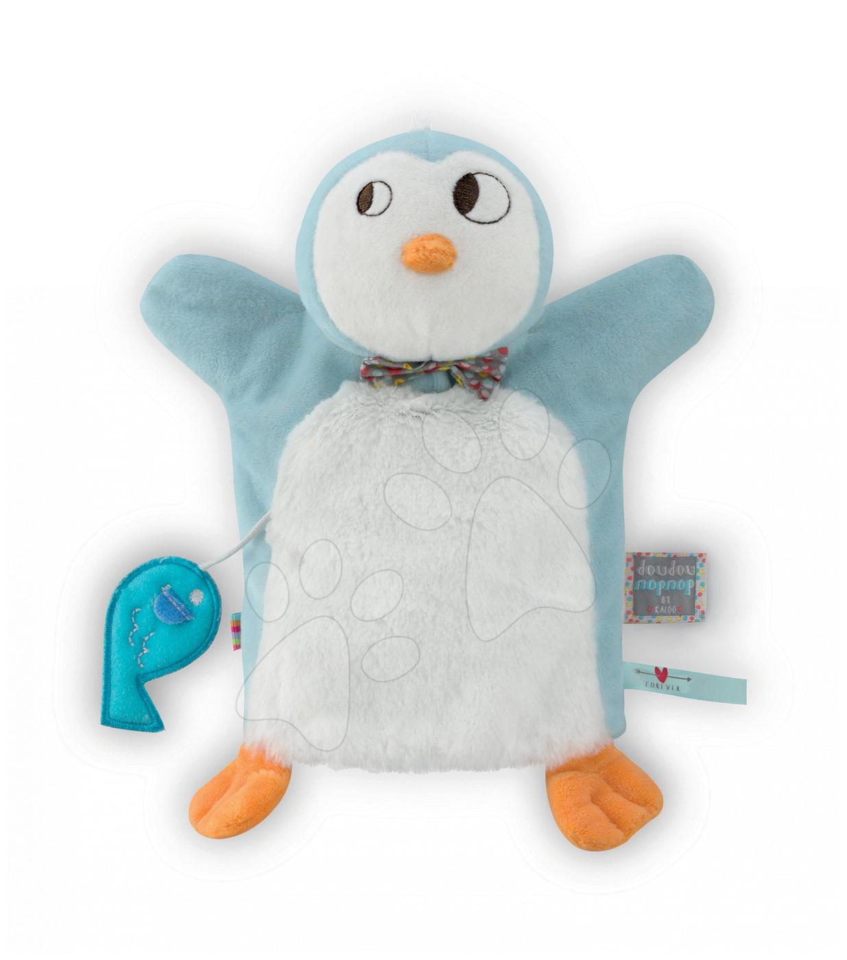 Bábky pre najmenších - Plyšový tučniak bábkové divadlo Nopnop-Ice Cream Doudou Kaloo 25 cm pre najmenších