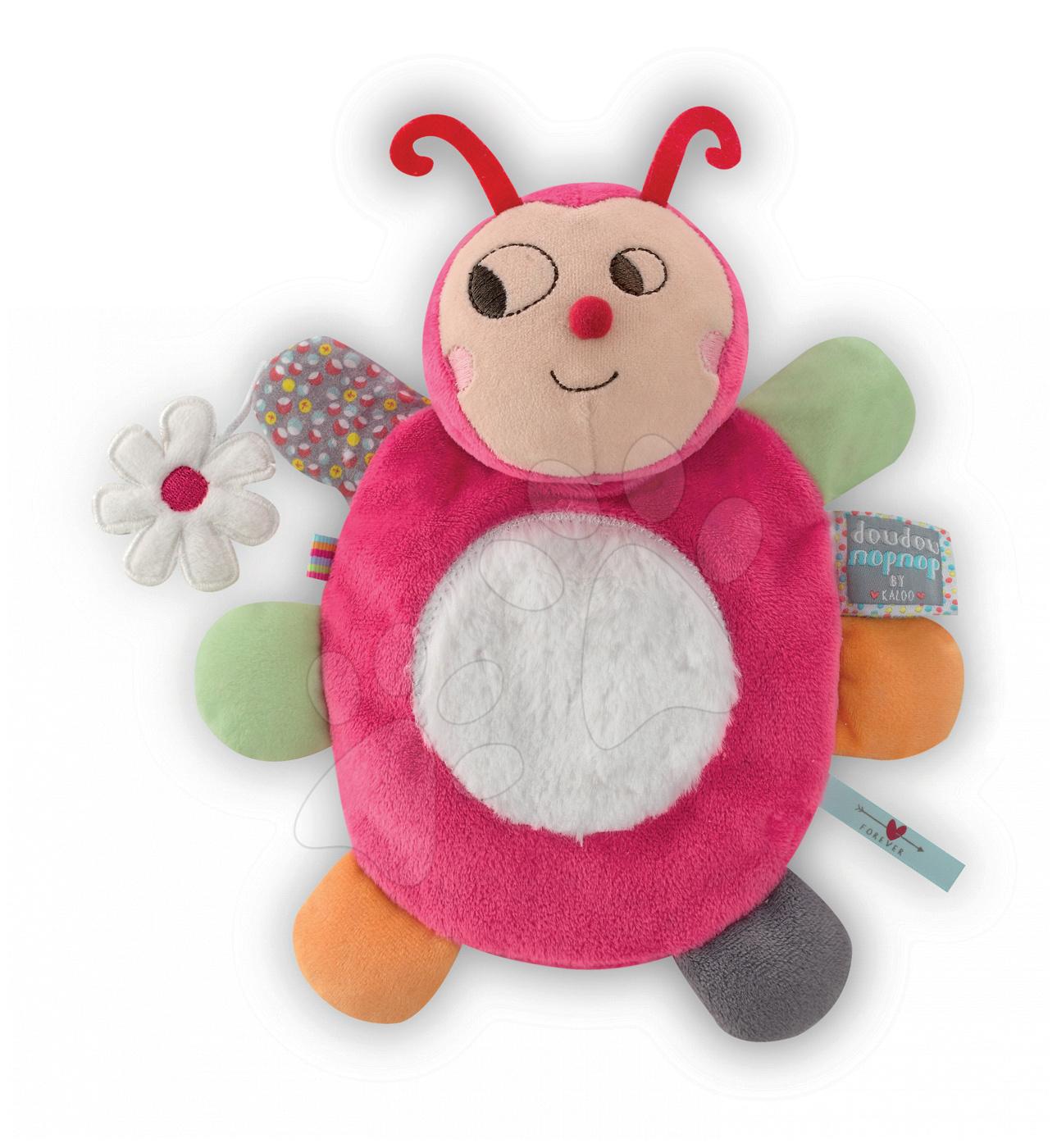 Bábky pre najmenších - Plyšová lienka bábkové divadlo Nopnop-Chance Ladybug Doudou Kaloo 25 cm pre najmenších