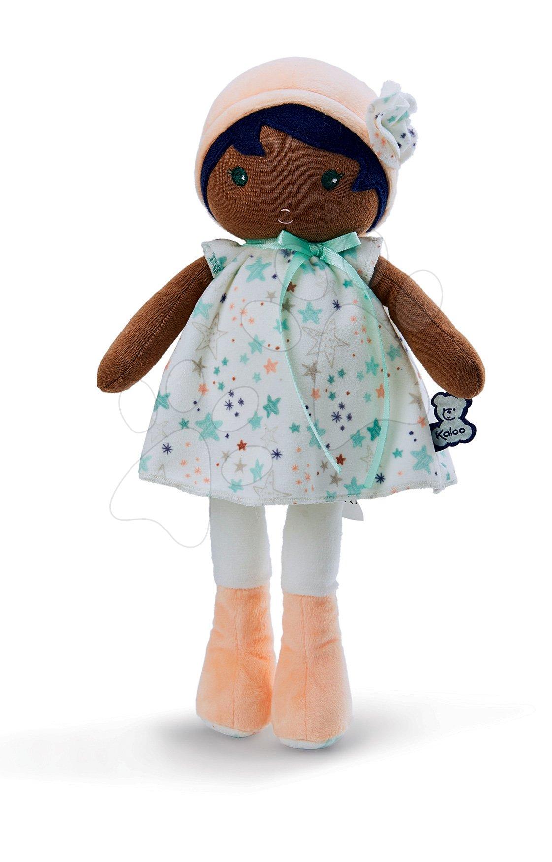 Panenka pro miminka Manon K Tendresse Kaloo 25 cm v hvězdičkových šatech z jemného textilu v dárkovém balení od 0 měsíců
