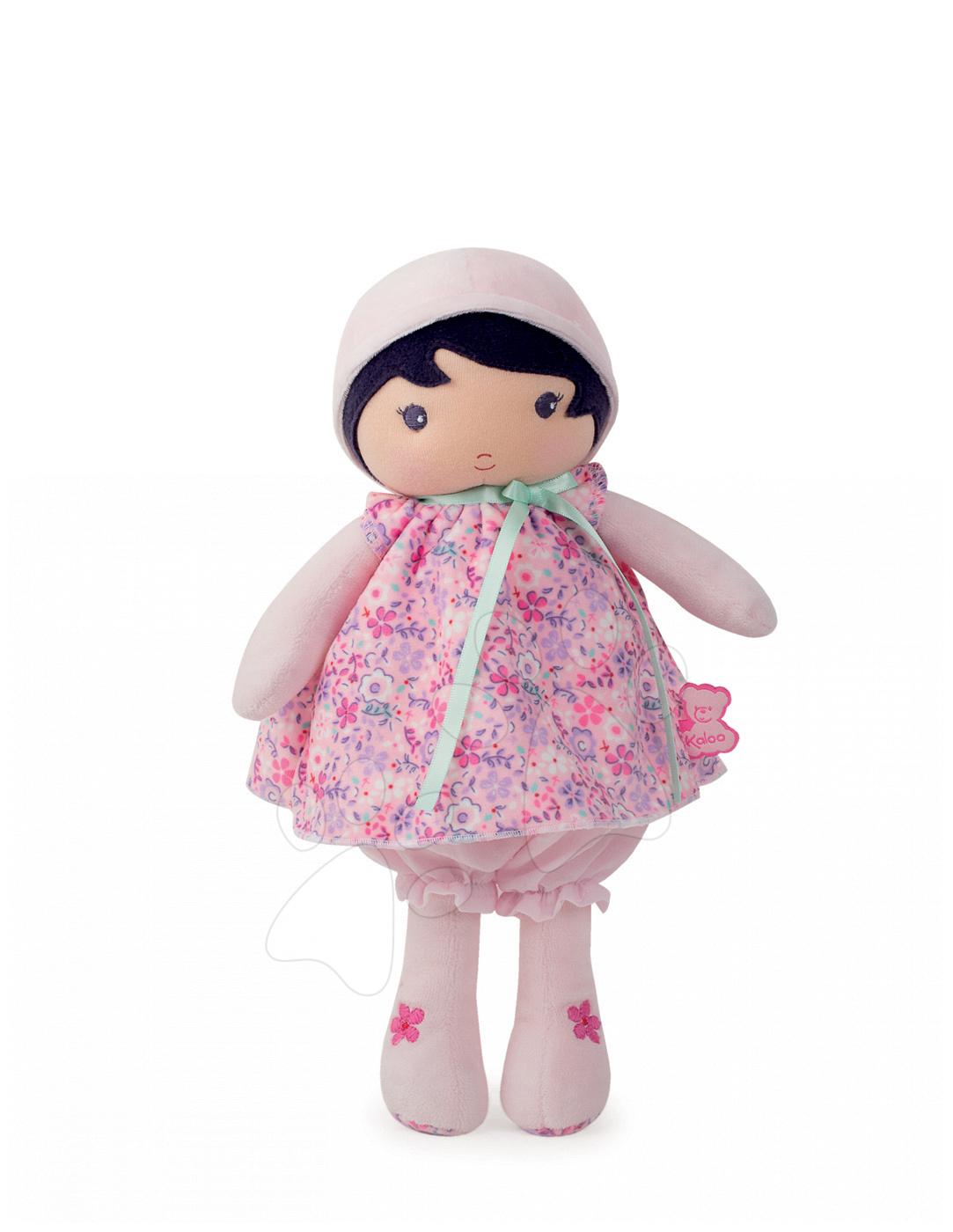 Bábika pre bábätká Fleur K Tendresse Kaloo v kvetinkových šatách z jemného textilu v darčekovom balení 32 cm