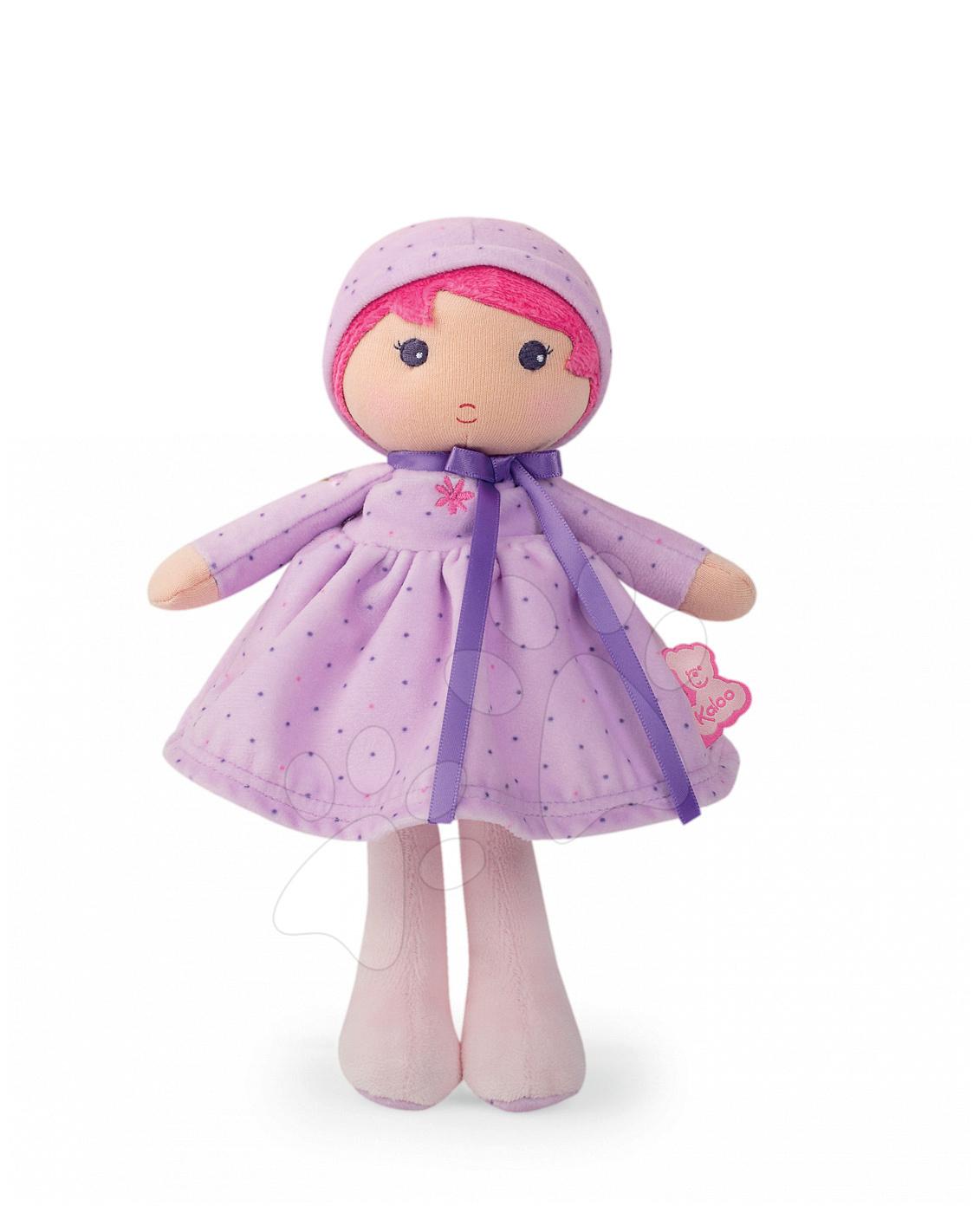 Bábika pre bábätká Lise K Tendresse Kaloo v bodkovaných šatách z jemného textilu v darčekovom balení 25 cm