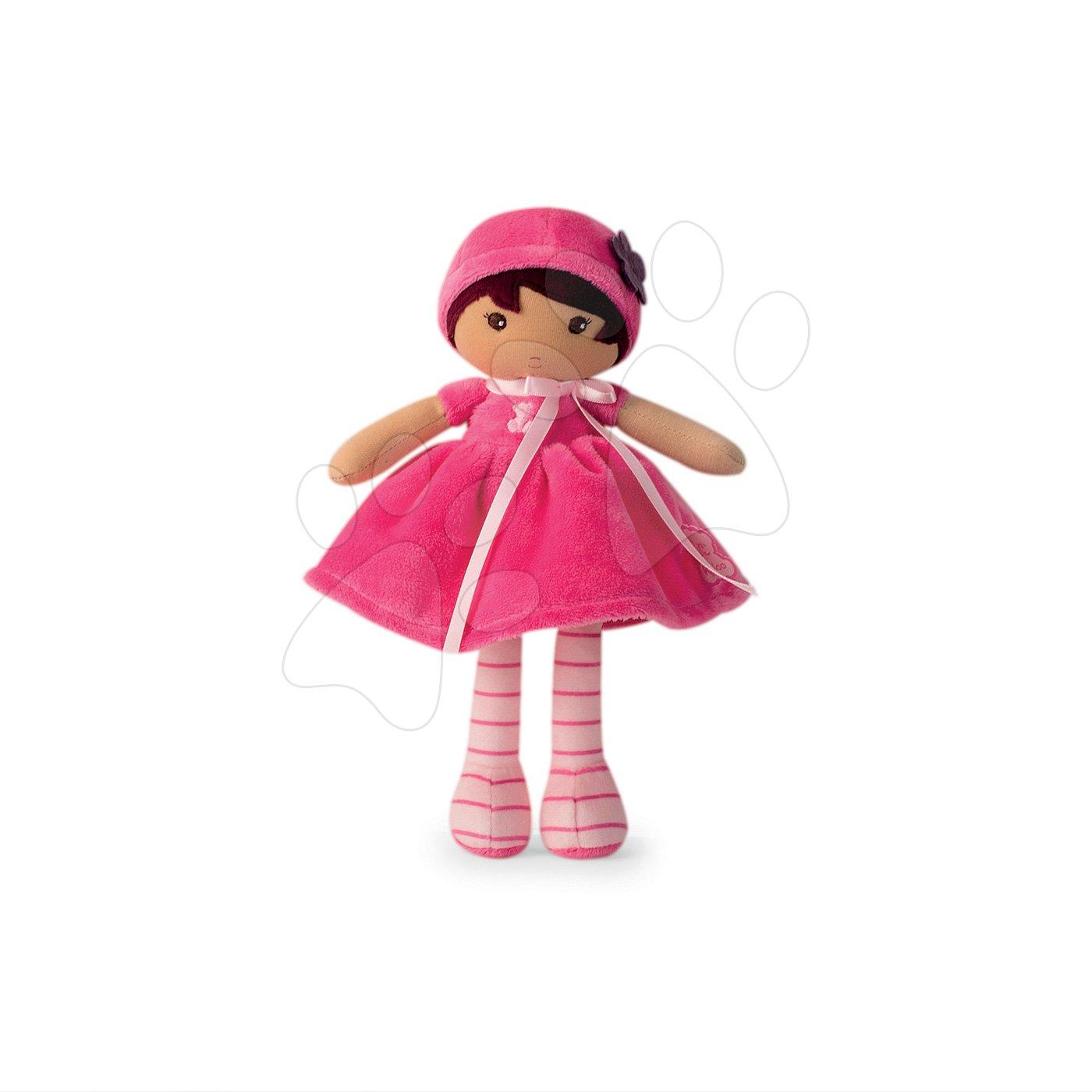 Bábika pre bábätká Emma K Tendresse Kaloo v ružových šatách z jemného textilu v darčekovom balení 25 cm