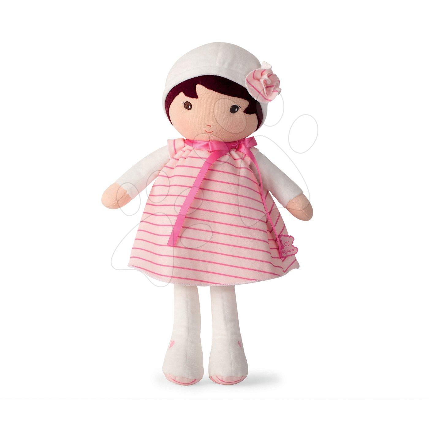 Bábika pre bábätká Rose K Tendresse Kaloo 40 cm v pásikavých šatách z jemného textilu v darčekovom balení