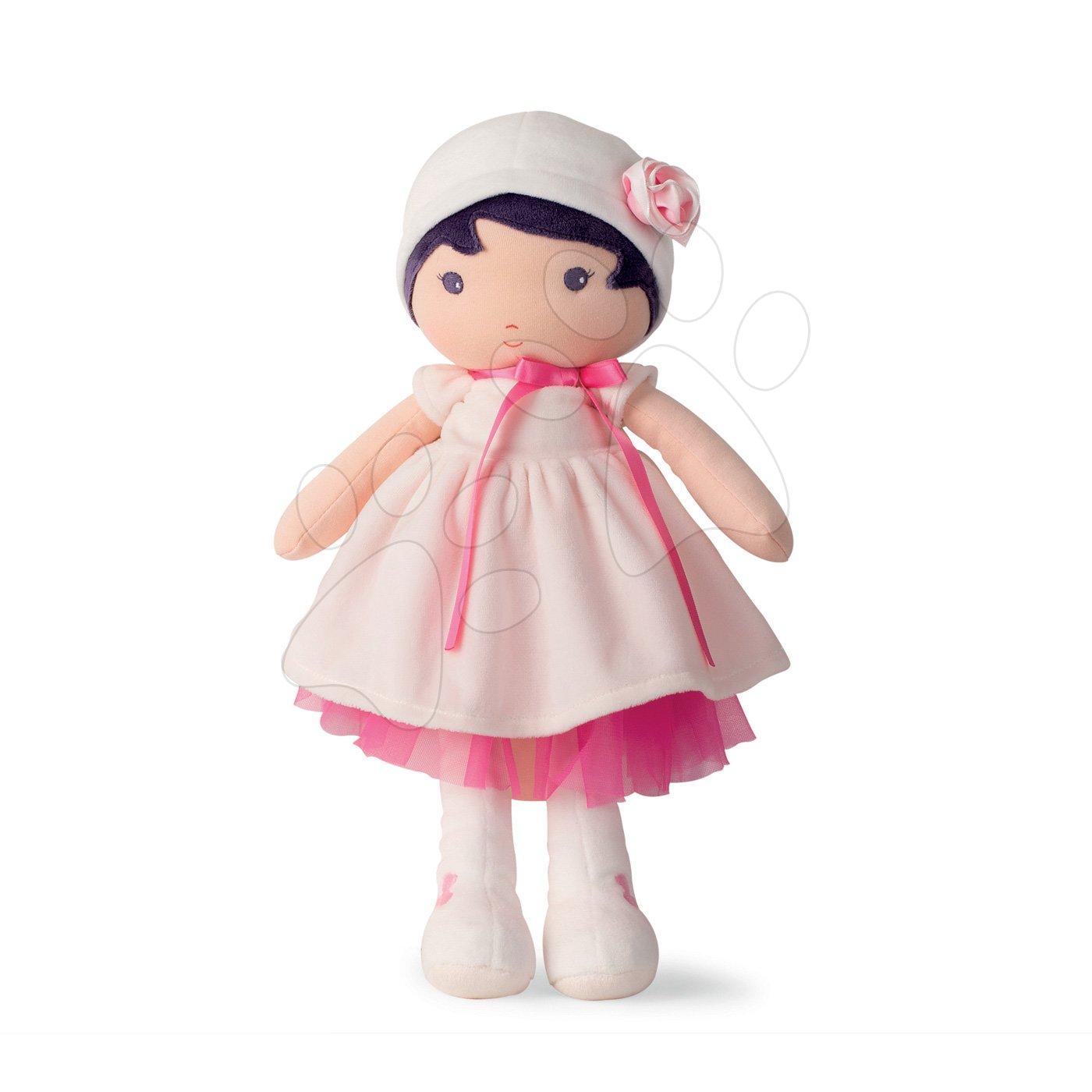 Bábika pre bábätká Perle K Tendresse Kaloo 40 cm v bielych šatách z jemného textilu v darčekovom balení