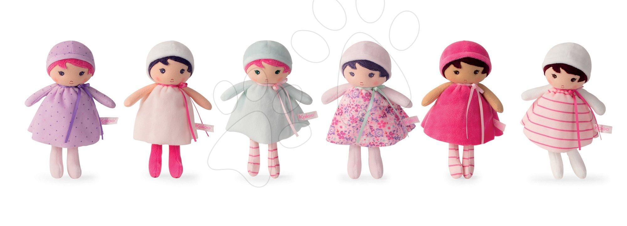 Hadrové panenky - Set panenky pro miminka K Tendresse Kaloo 6 druhů (6 kusů) s výškou 18 cm od 0 měsíců