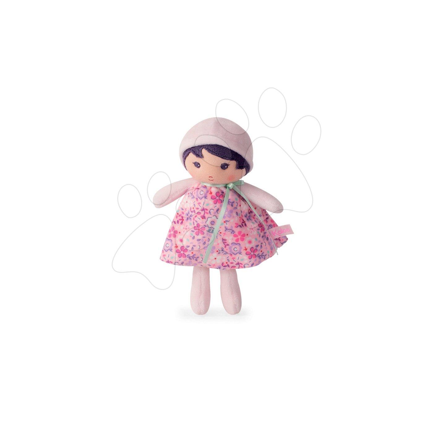 Kaloo panenka pro miminka Fleur K Tendresse 18 cm v květinových šatech z jemného textilu v dárkovém balení 962091