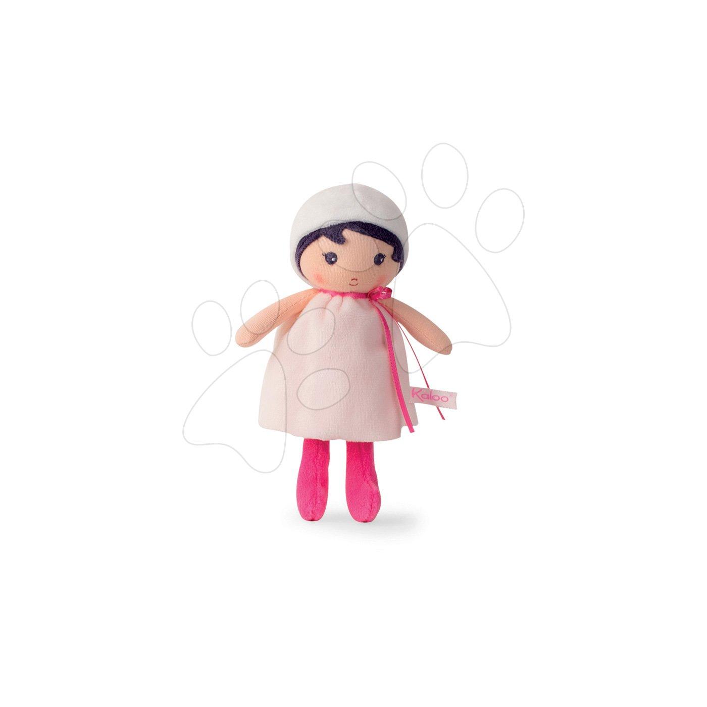 Kaloo panenka pro miminka Perle K Tendresse 18 cm v bílých šatech z jemného textilu v dárkovém balení 962094