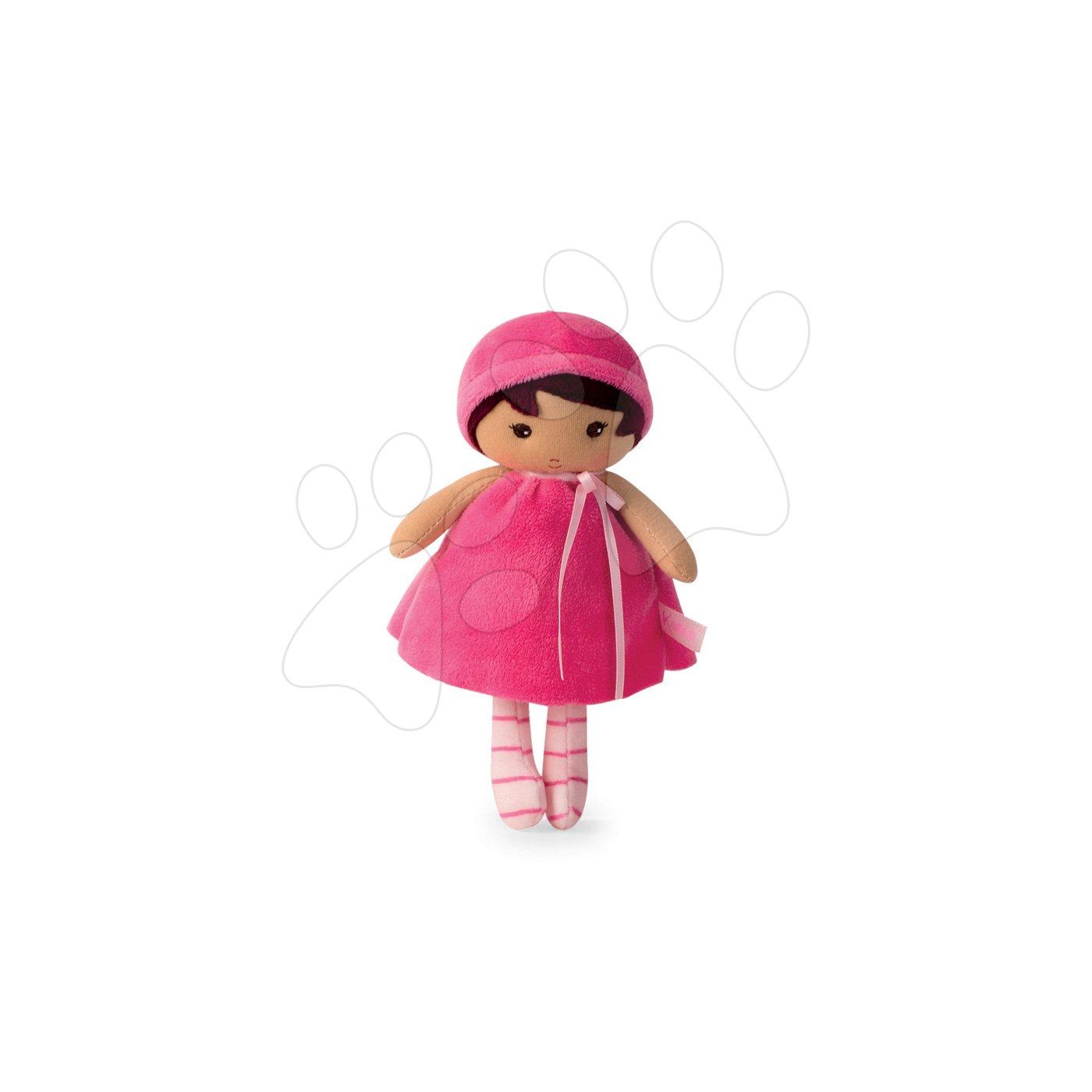 Kaloo panenka pro miminka Emma K Tendresse 18 cm v růžových šatech z jemného textilu v dárkovém balení 962096