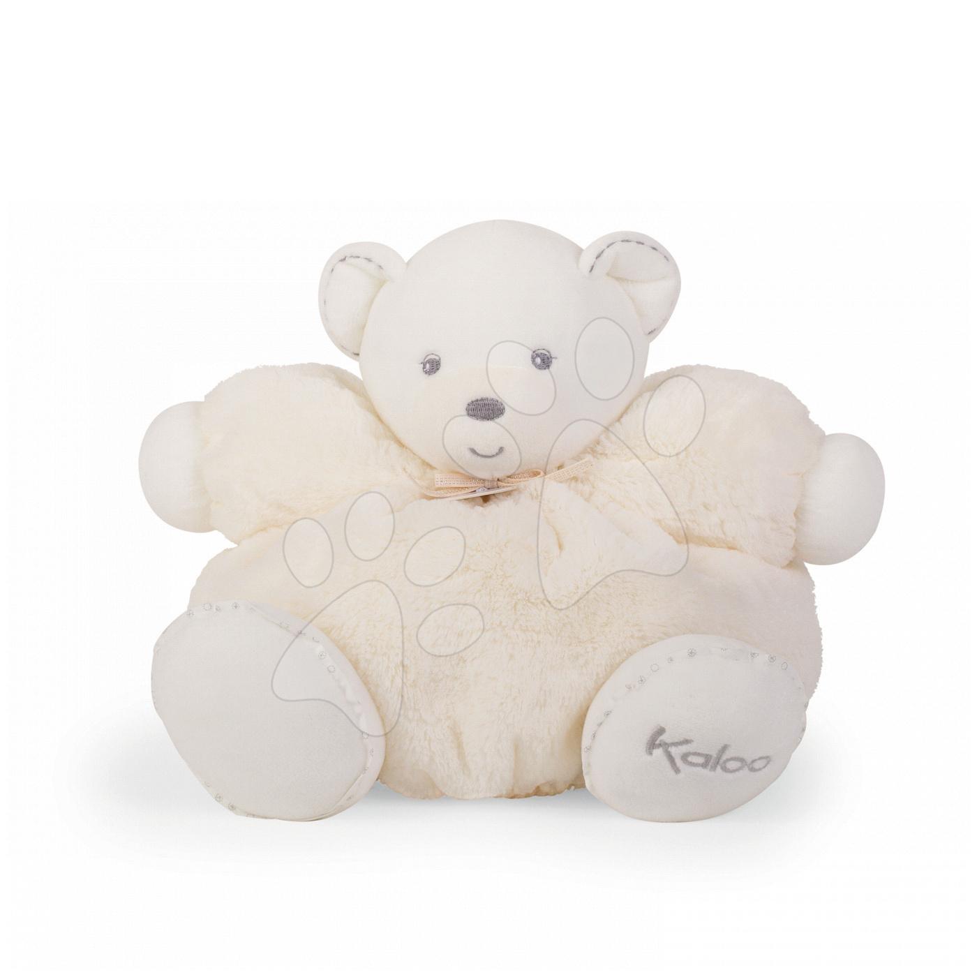 Plyšový medvedík Perle-Chubby Bear Kaloo s hrkálkou 30 cm v darčekovom balení pre najmenších krémový