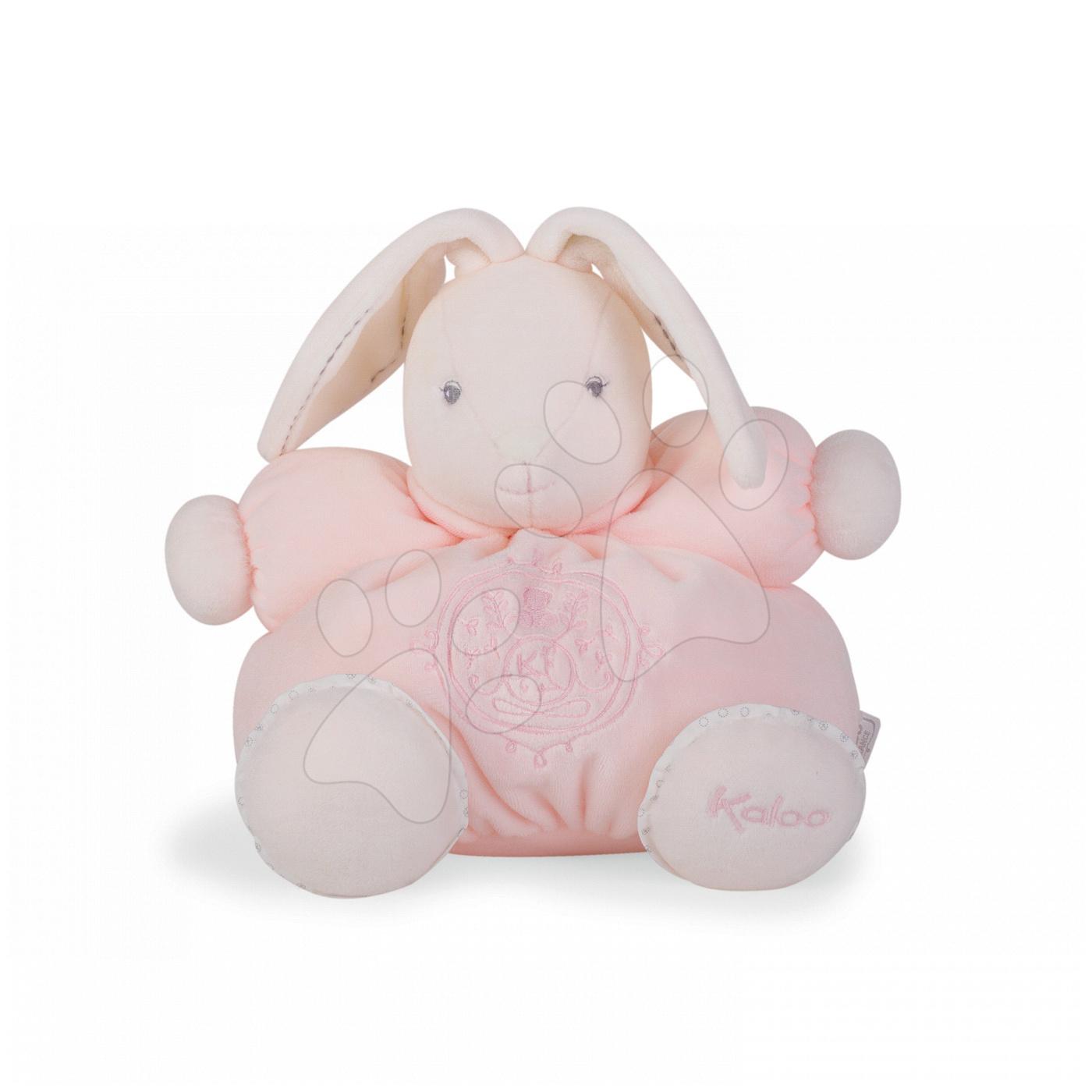 Hračky pre bábätká - Plyšový zajačik Perle-Chubby Rabbit Kaloo 25 cm v darčekovom balení pre najmenších ružový