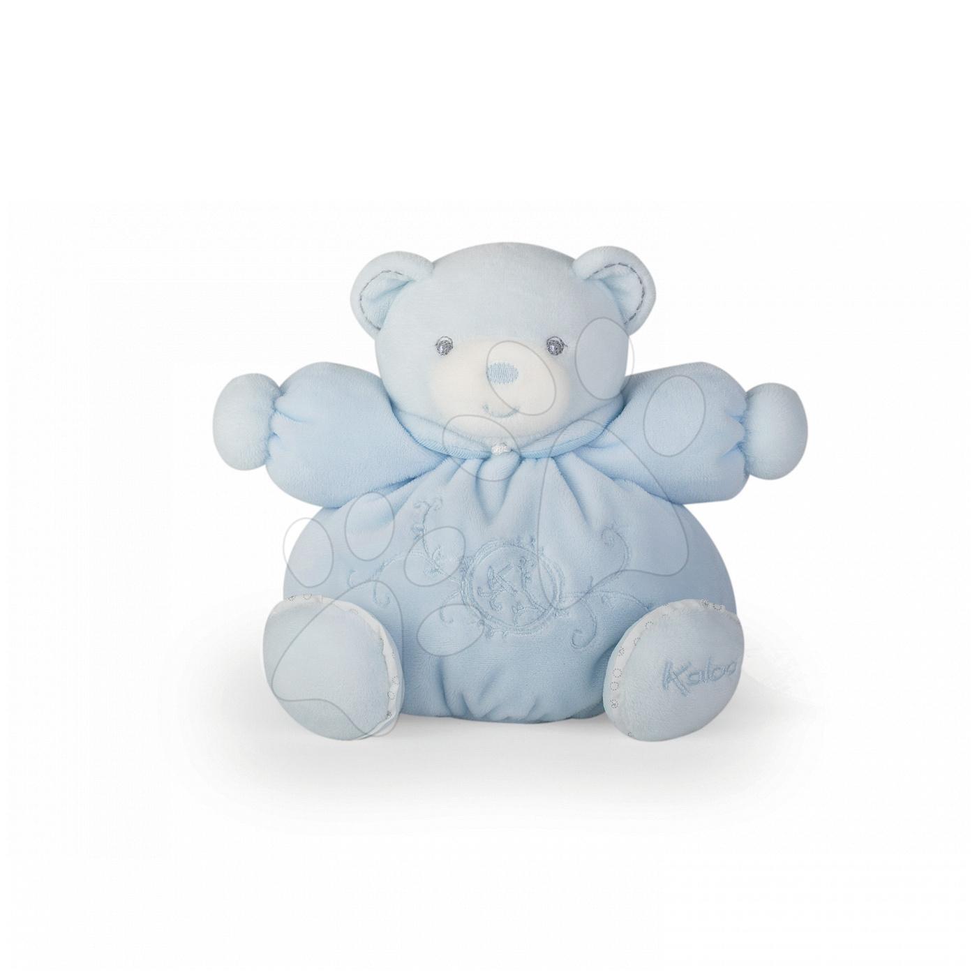 Plyšové medvede - Plyšový medvedík Perle-Chubby Bear Kaloo 18 cm v darčekovom balení pre najmenších modrý