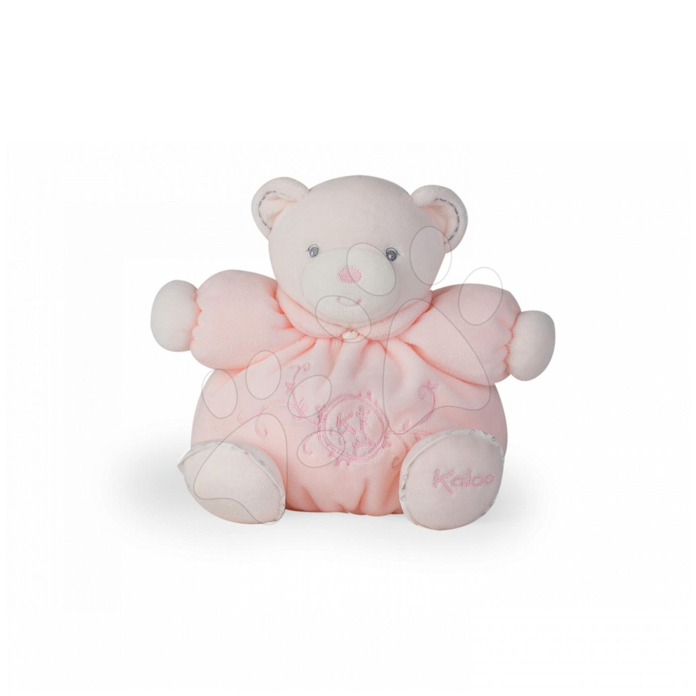 Plyšové medvede - Plyšový medvedík Perle-Chubby Bear Kaloo 18 cm v darčekovom balení pre najmenších ružový